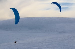 Snowkiting Elf Kites
